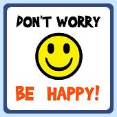 don't worry be happy smiley face retro t-shirts vintage clothing