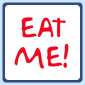 When you're so delicious you want to invite others to eat you, you need to get the Eat Me t-shirt.
