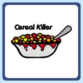 cereal killer t-shirt, humorous food t-shirts and clothing