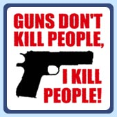 funny and offensive men's gun t-shirts, guns don't kill people i kill people.