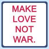 vintage retro style make love not war anti-war peace t-shirts