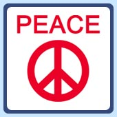 anti-war peace symbol sign t-shirts clothing and apparel
