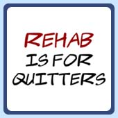 fun party t-shirts, humorous rehab is for quitters teeshirts and clothing