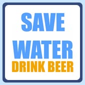 save water drink beer funny party t-shirts