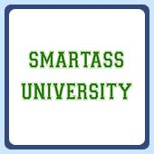 college student humor, the original smartass university t-shirt!